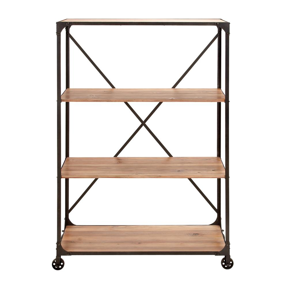 Reclaimed Wood Open Bookcase Zh141581r The Home Depot