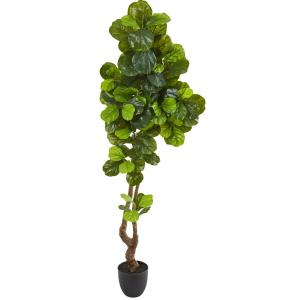 78 in. Fiddle Leaf Artificial Tree (Real Touch)