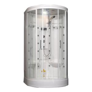 Aston ZA209 49 inch x 45 inch x 87 inch Steam Shower Enclosure Kit in White with 30 Body Jets by Aston