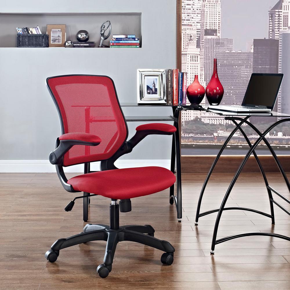 Veer Mesh Office Chair in Red