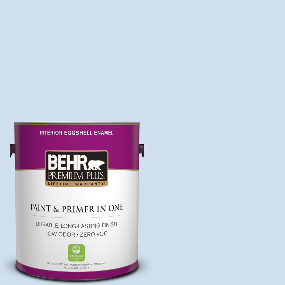 BEHR Premium Plus 1-gal. #560A-1 Pale Sky Zero VOC Eggshell Enamel Interior Paint