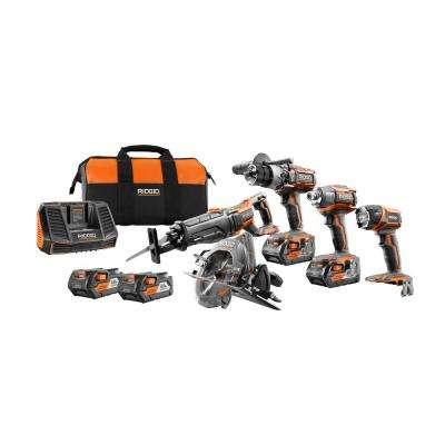 18-Volt 5-Tool Combo Kit with Free 2-Pack of 4.0Ah Batteries