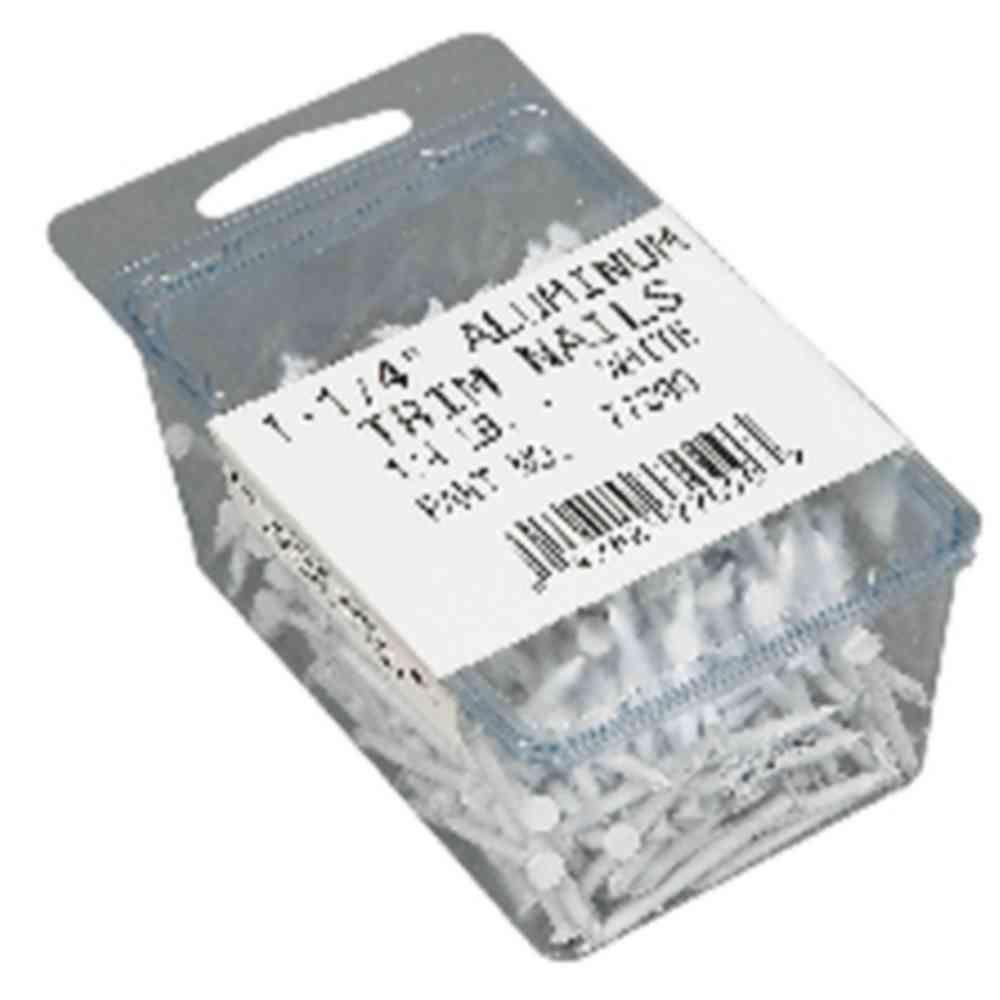 1-1/4 in. Aluminum Finish White Nails (1/4 lb. Pack)