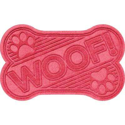 Aqua Shield Red 24 in. x 36 in. Woof Pet Mat