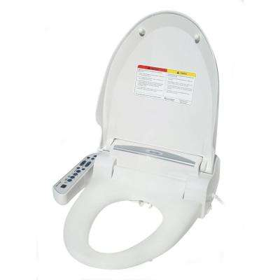 Elongated Magic Clean Bidet with Dryer in White