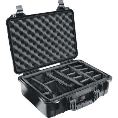 15.5 in. Protector Case with Padded Divider in Black