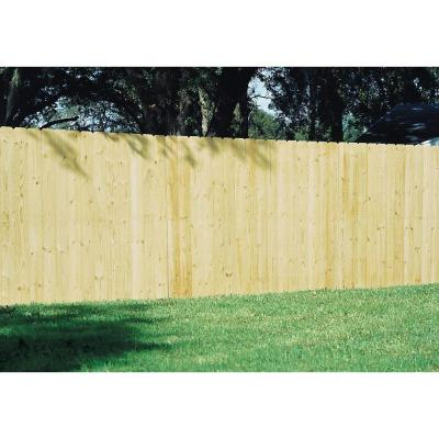 Unbranded Installed Pressure Treated Pine Dog Ear Picket