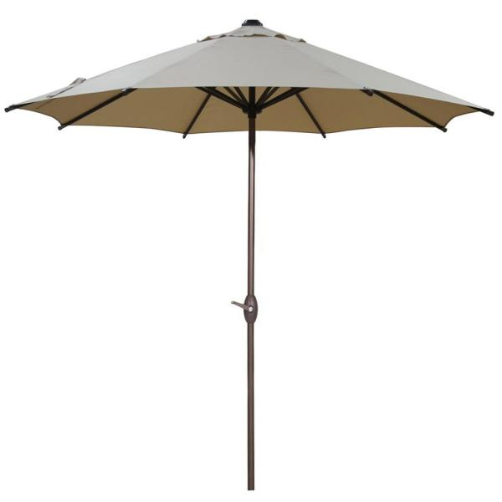 9 ft. Outdoor Table Market Umbrella with Push Button Tilt and Crank Patio Umbrella in Beige