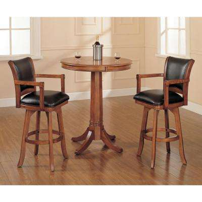 Park View 26 in. Medium Brown Oak Swivel Cushioned Bar Stool