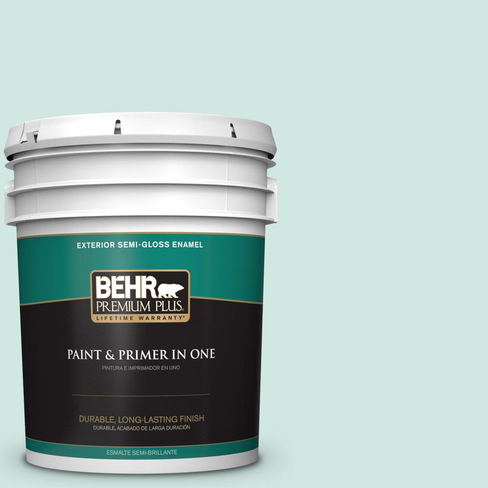 5 gal. #HDC-CT-26A Seaglass Semi-Gloss Enamel Exterior Paint