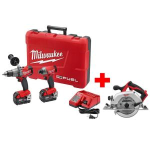 Milwaukee M18 FUEL 18-Volt Cordless Lithium-Ion Brushless Hammer Drill/Impact Combo Kit with Free M18 6-1/2... by Milwaukee