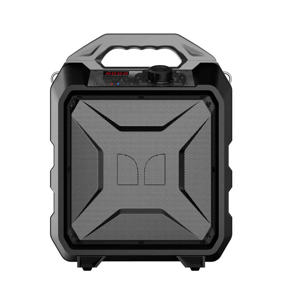 Rockin Rambler 30-Watt Portable Bluetooth Speaker with NFC, Gray Handle