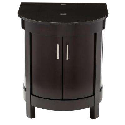 Haddington 24 in. Birch Vanity in Espresso with Granite Vanity Top in Black