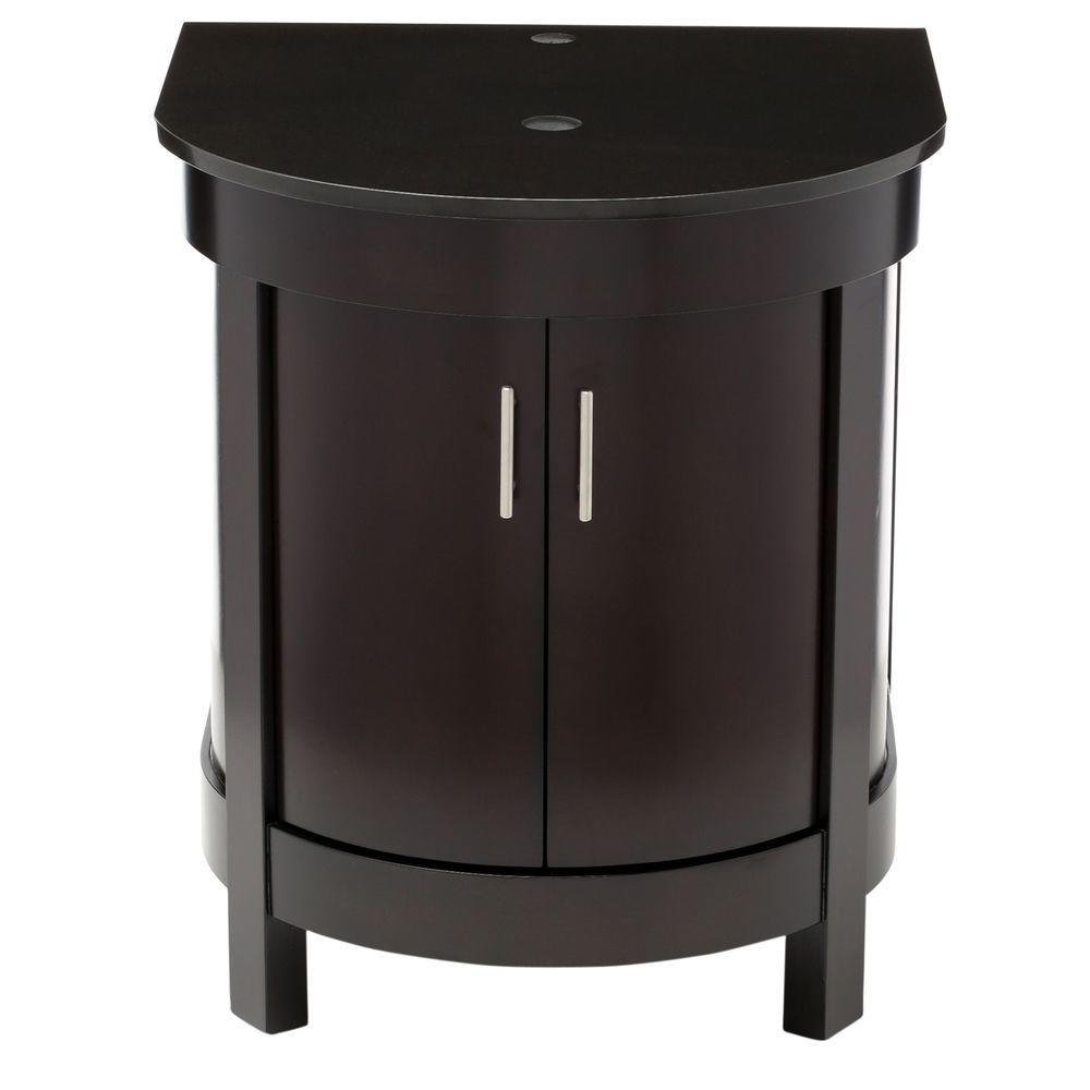 24 vanity with granite top. decolav haddington 24 in. birch vanity in espresso with granite top black