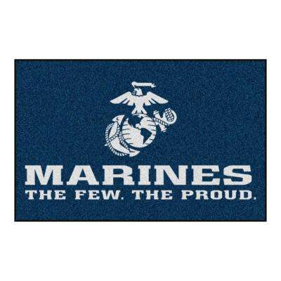 Military Red 2 ft. x 3 ft. Rectangle Marine Corps Area Rug