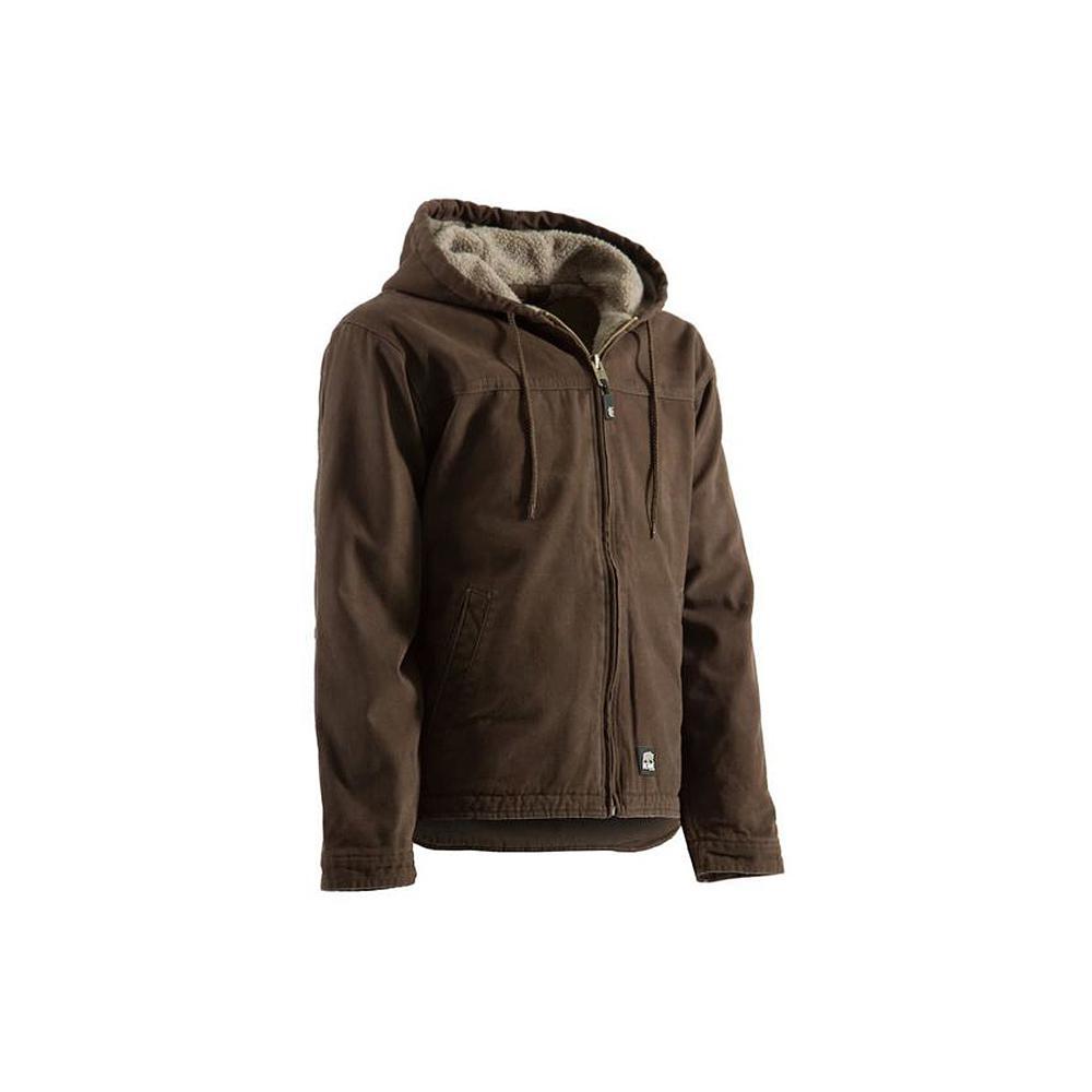 Berne Men's Extra Large Regular Bark Cotton and Polyester Washed Hooded Work Coat