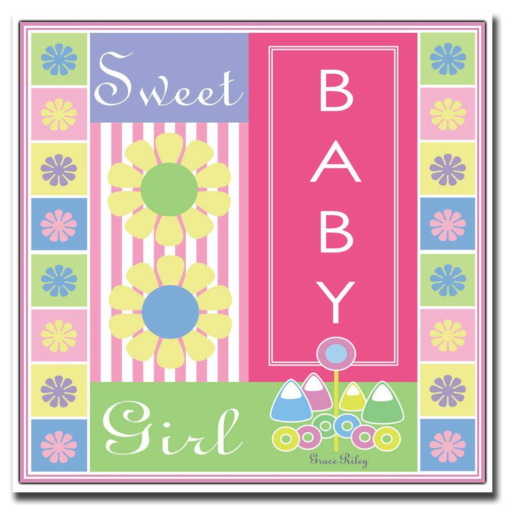 Trademark Fine Art 24 in. x 24 in. Sweet Baby Girl Canvas Art