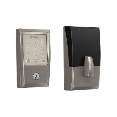 Century Encode Smart Wifi Door Lock with Alarm in Satin Nickel