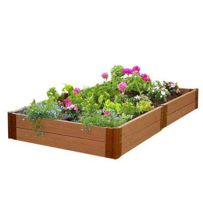 Two Inch Series 4 ft. x 8 ft. x 11 in. Classic Sienna Composite Raised Garden Bed Kit