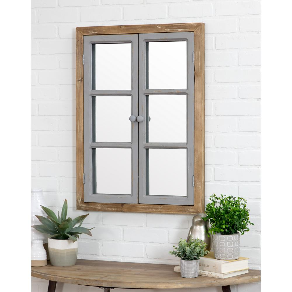 Aspire Home Accents Somerset Window Pane Wall Mirror