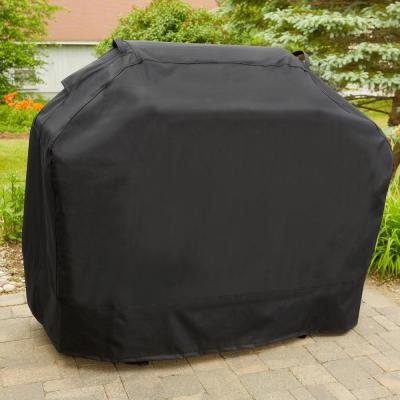 Solid Black Premium Gas Heavy Duty Waterproof BBQ Grill Cover