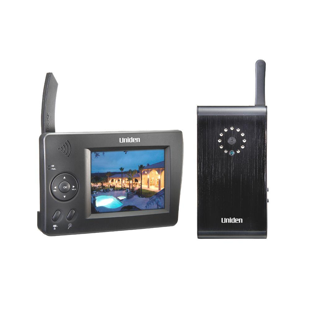 Uniden 4 CH Wireless Surveillance System with (1) 640 TVL Camera and 3 in. Monitor-DISCONTINUED