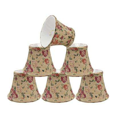 5 in. x 4 in. Floral Print Bell Lamp Shade (6-Pack)