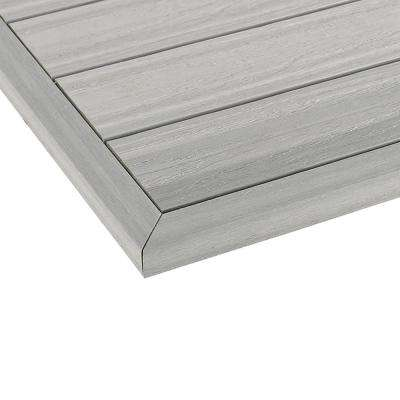1/6 ft. x 13.95 in. Quick Deck Composite Deck Tile Outside End Corner Fascia in Icelandic Smoke White (2-Pieces/box)