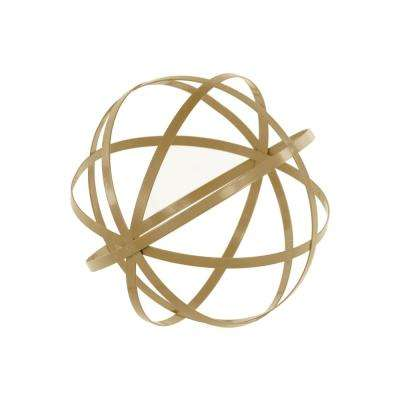 10 in. H Decorative Sculpture in Gold Coated Finish
