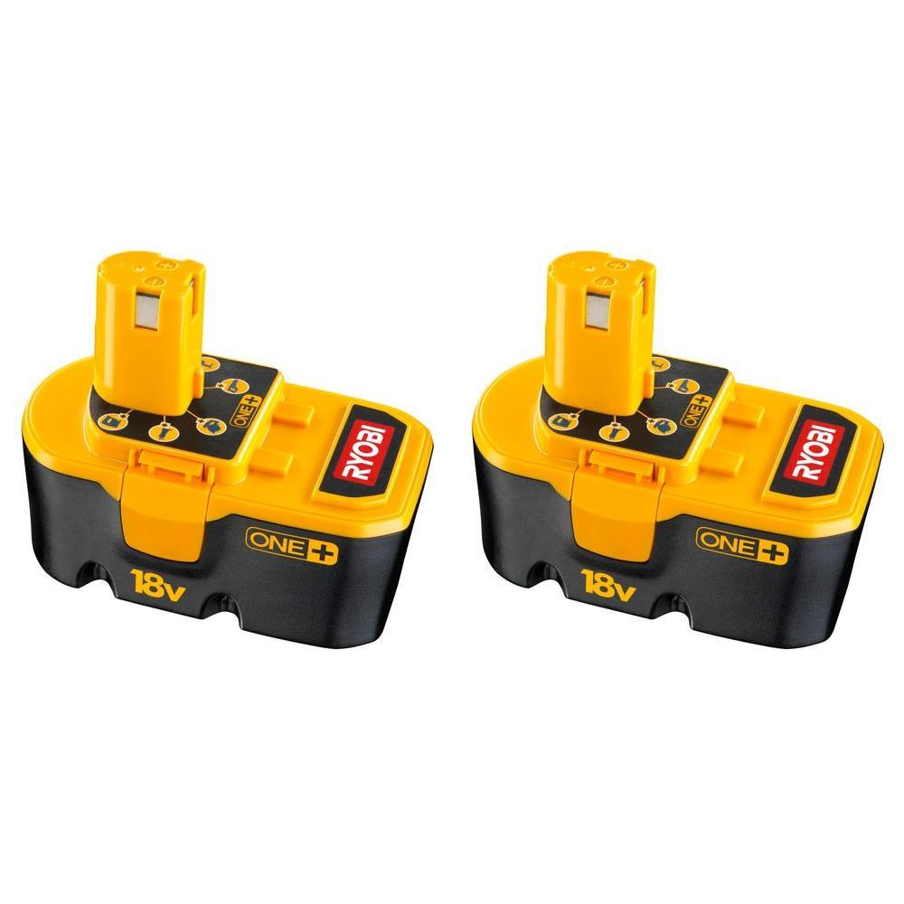 Ryobi ONE+ 18-Volt Ni-Cd Batteries (2-Pack)