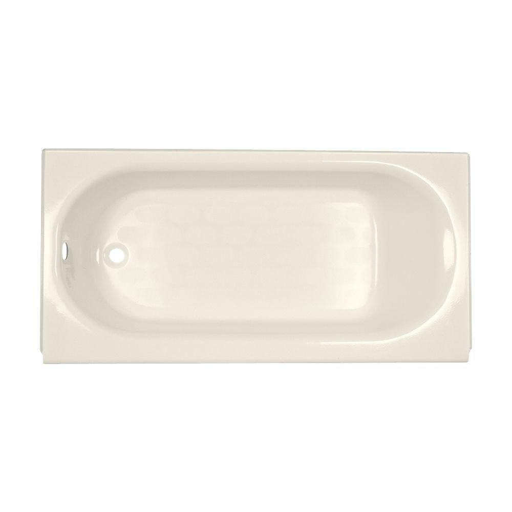 Princeton Luxury Ledge 5 ft. Left Hand Drain Bathtub in Linen