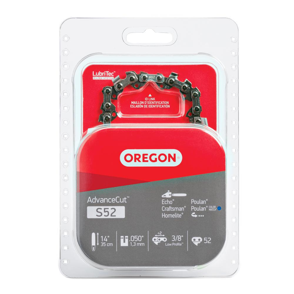 Oregon 14 In Chainsaw Chain S52 The Home Depot