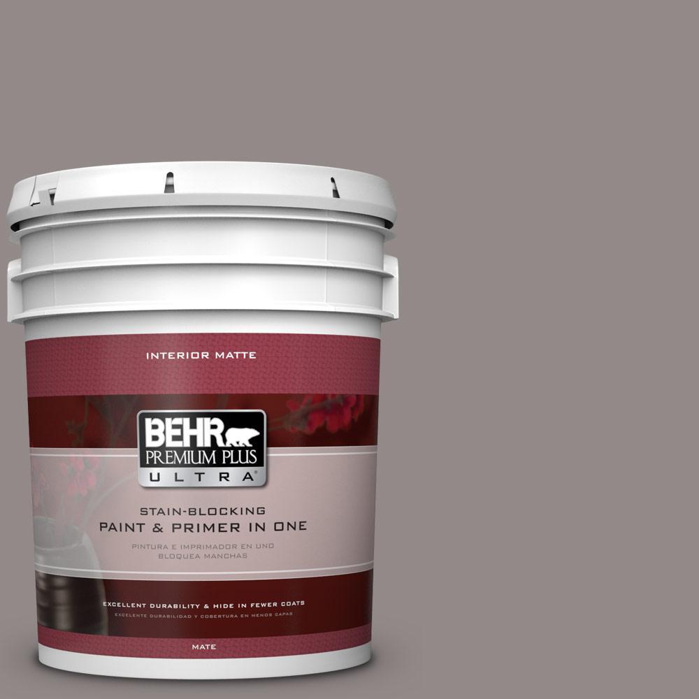 BEHR Premium Plus Ultra 5 gal. #PPU17-16 Polished Stone Flat/Matte Interior Paint