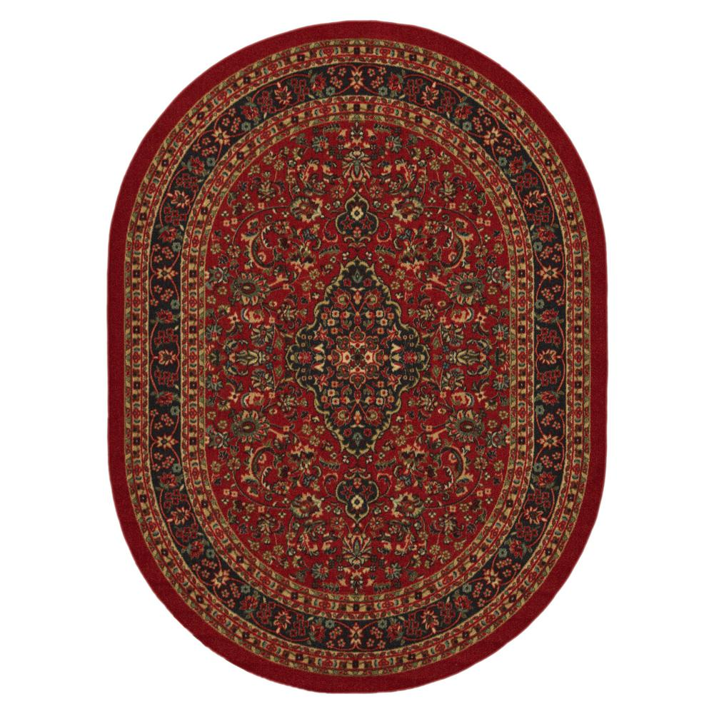 Large Oval Area Rugs: Ottomanson Home Collection Red Heriz Design 5 Ft. X 7 Ft