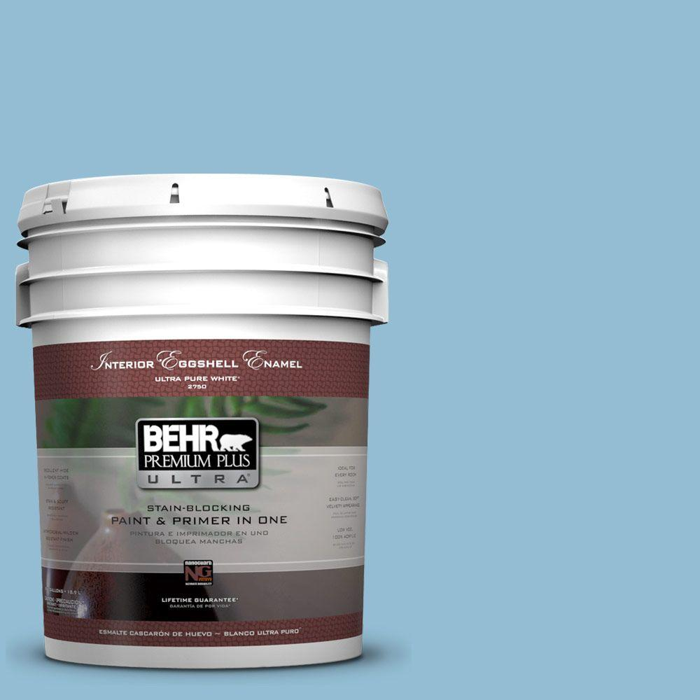5 gal. #M500-3 Blue Chalk Color Eggshell Enamel Interior Paint