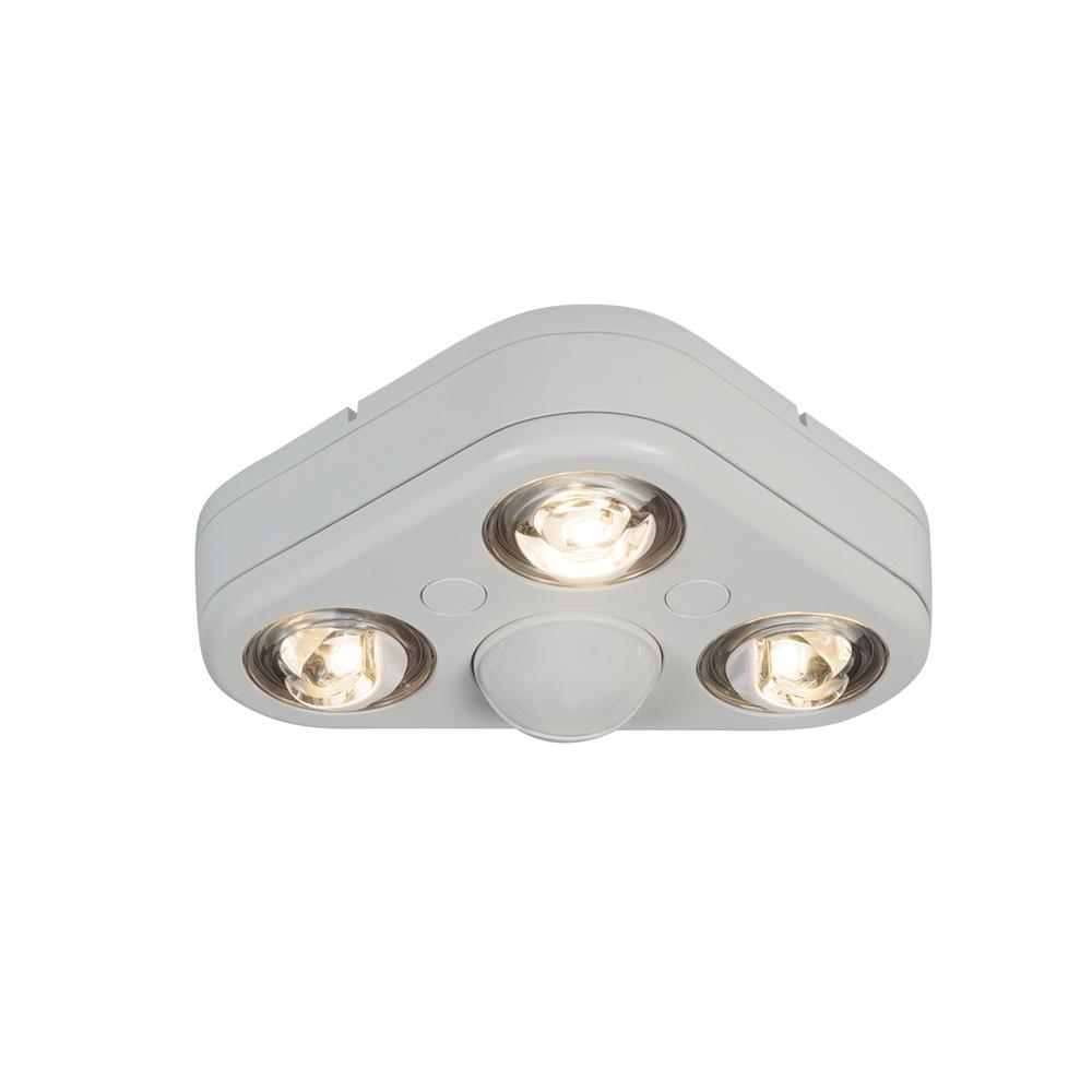 Revolve 270 Degree White Triple Head Motion Activated Outdoor Integrated Led