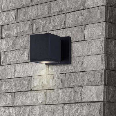 Low-Voltage 5-Watt Black Outdoor Integrated LED Wall Lantern Sconce