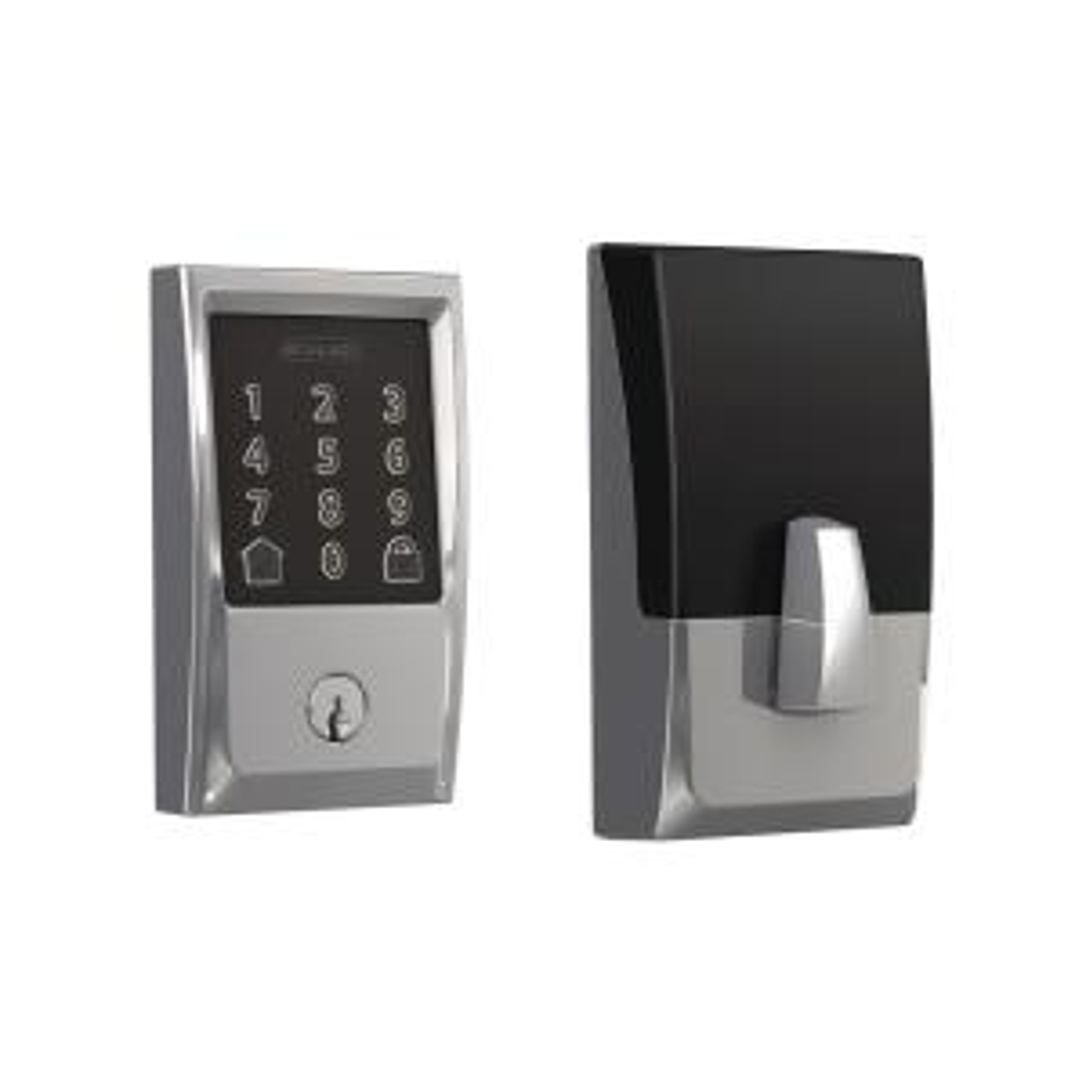 Century Bright Chrome Encode Smart Wi-Fi Door Lock with Alarm