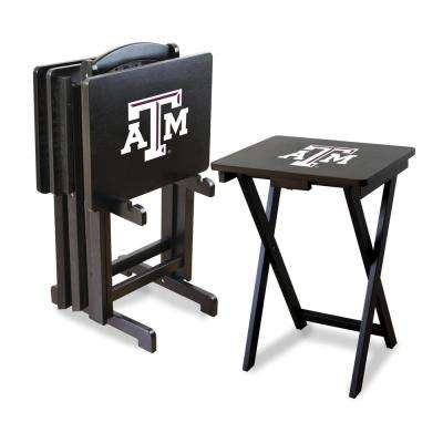 Texas A and M TV Trays with Stand
