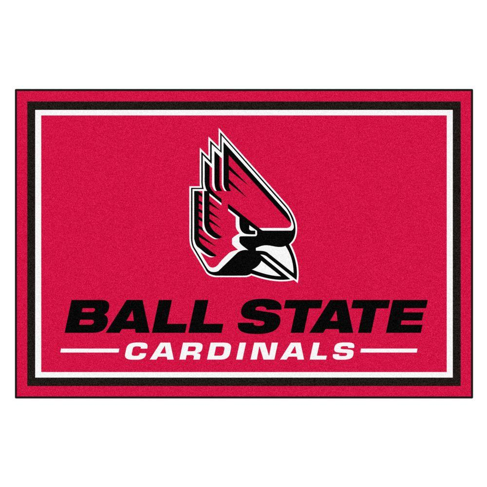 NCAA Ball State University Red 5 ft. x 7 ft. 8