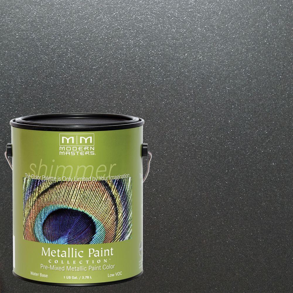 1 gal. Steel Gray Satin Metallic Interior/Exterior Paint