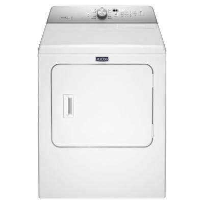 7.0 cu. ft. 240 Volt White Electric Vented Dryer with Steam