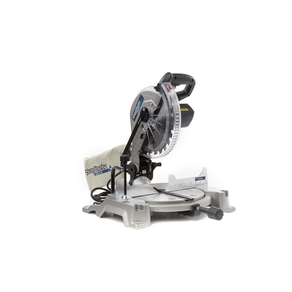 Shopmaster 15 Amp 10 in  Compound Miter Saw with Shadow Line Cut Guide