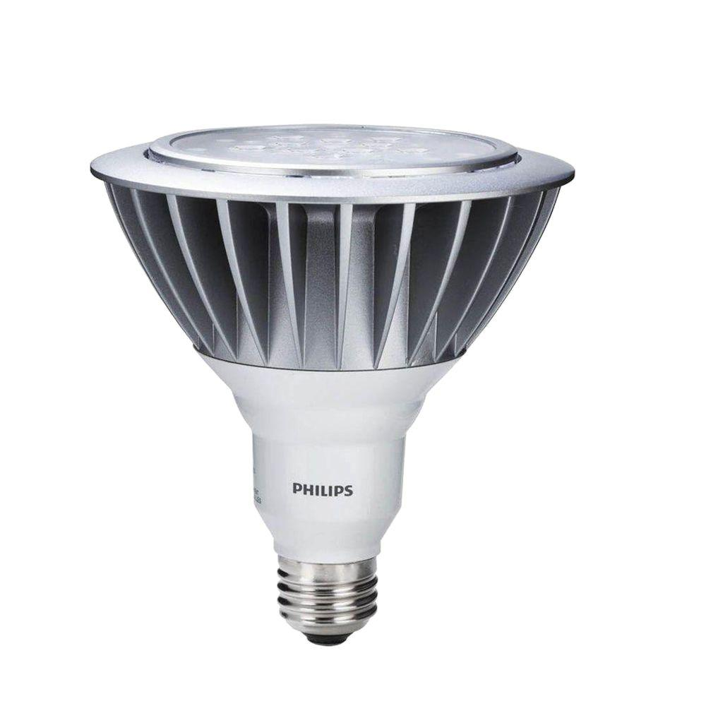 Philips 90W Equivalent Bright White (3000K) PAR38 Wet-Rated Outdoor and Security LED Flood Light Bulb (2-Pack)