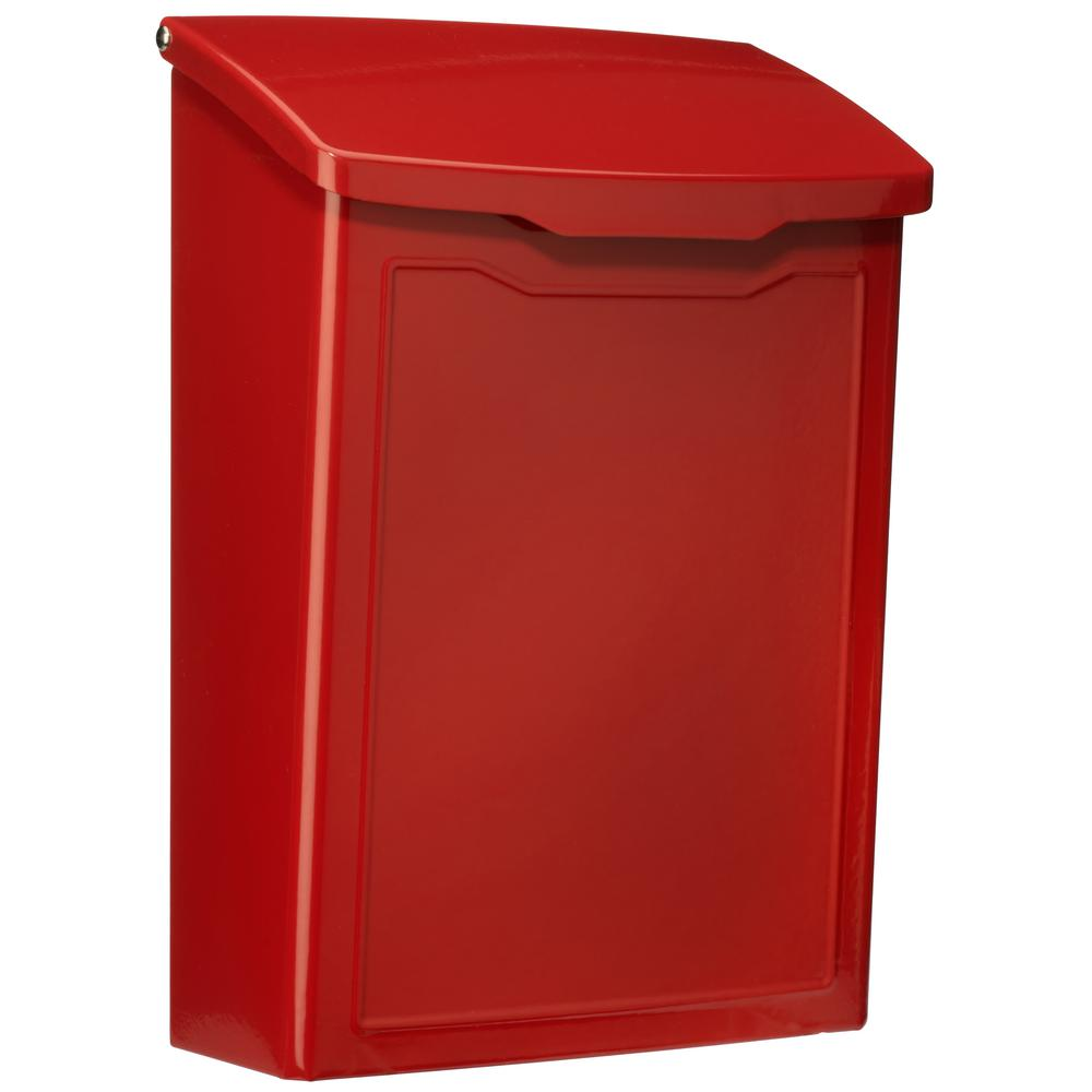 Marina Red Wall Mount Mailbox