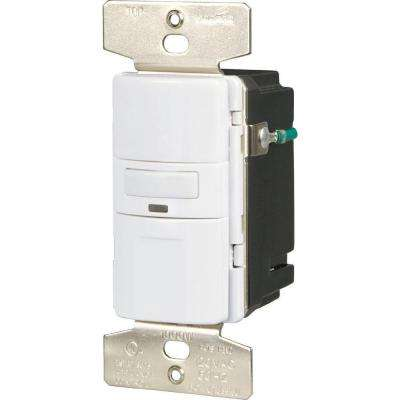 Motion-Activated Occupancy Sensor Wall Switch, White