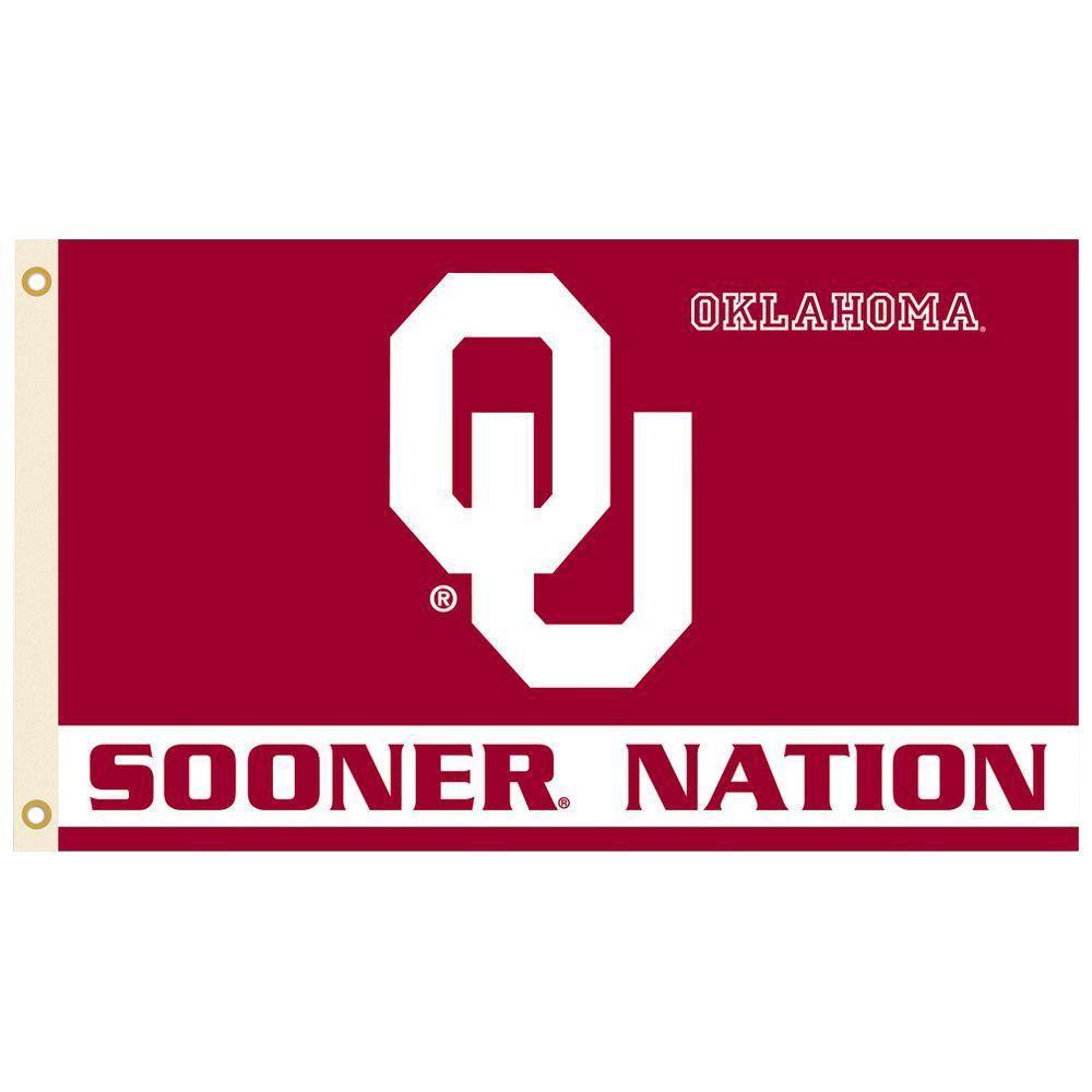 NCAA 3 ft. x 5 ft. Oklahoma Flag