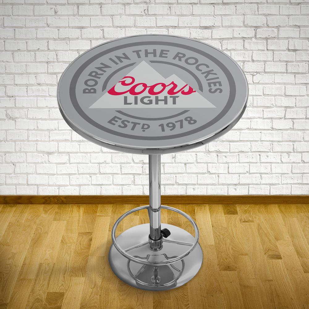 Coors Light Chrome Pub/Bar Table