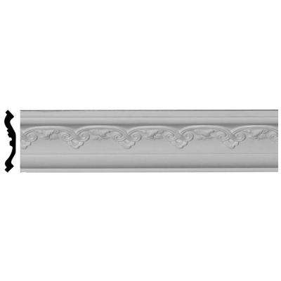 3-1/2 in. x 3-3/8 in. x 94-1/2 in. Polyurethane Lisbon Crown Moulding