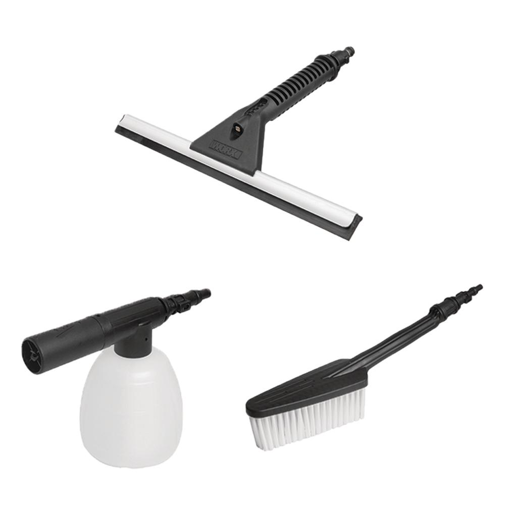 Worx Hydroshot Household Cleaning Kit Brush, Soap Dispenser and Squeegee
